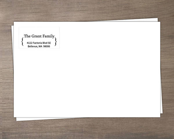 Y - Custom Address Imprinting for Envelopes - Black