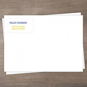 Y - Custom Address Imprinting for Envelopes - Color